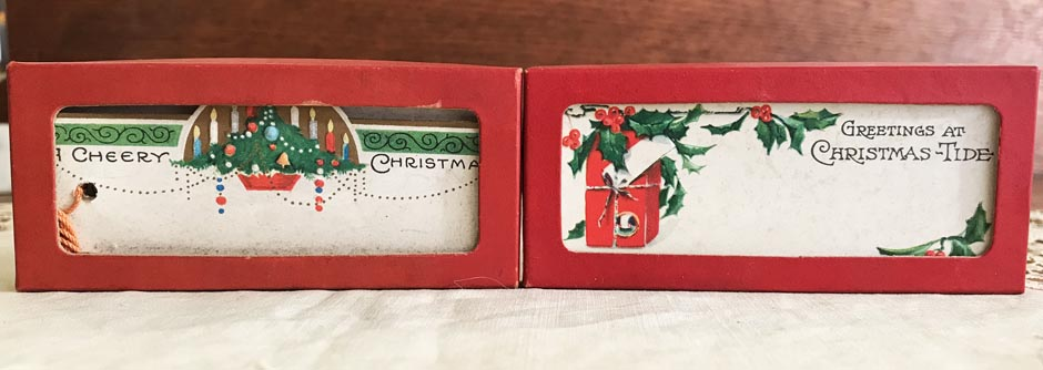 2 UNUSED Vintage Christmas Gift Tags, Gibson, in Original Boxes, Lot #5