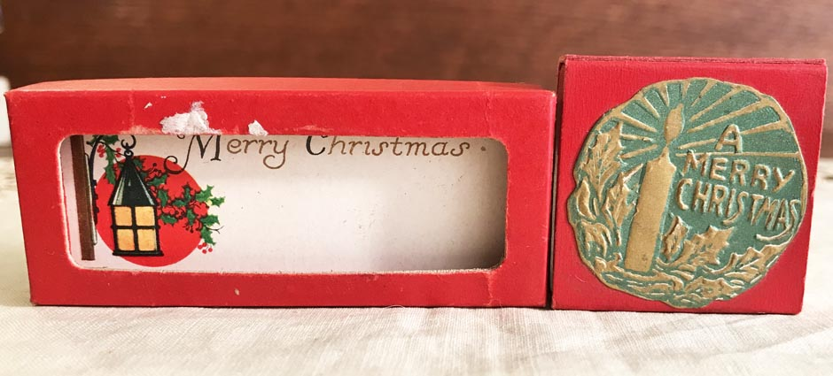 2 UNUSED Vintage Christmas Gift Tags, Gibson, in Original Boxes, Lot #7