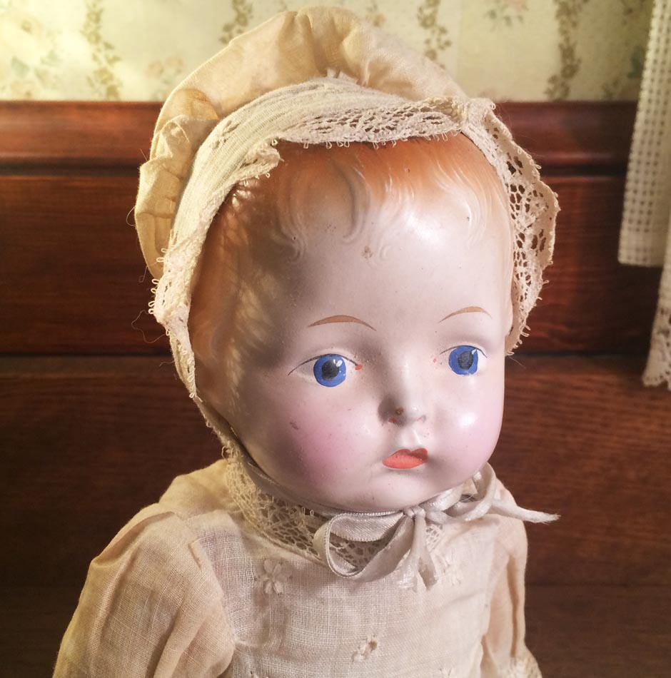 All Original Vintage Composition Baby Doll, Adorable